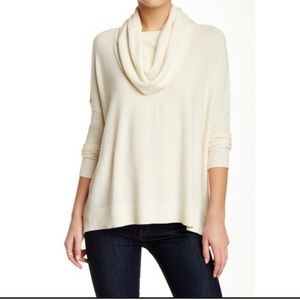 Joie oversized waffle knit cowl neck sweater